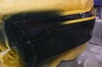 補修塗装クリヤを塗り終わったすぐの写真です。